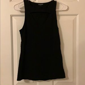 Express Black Tank with Mesh Cut Outs